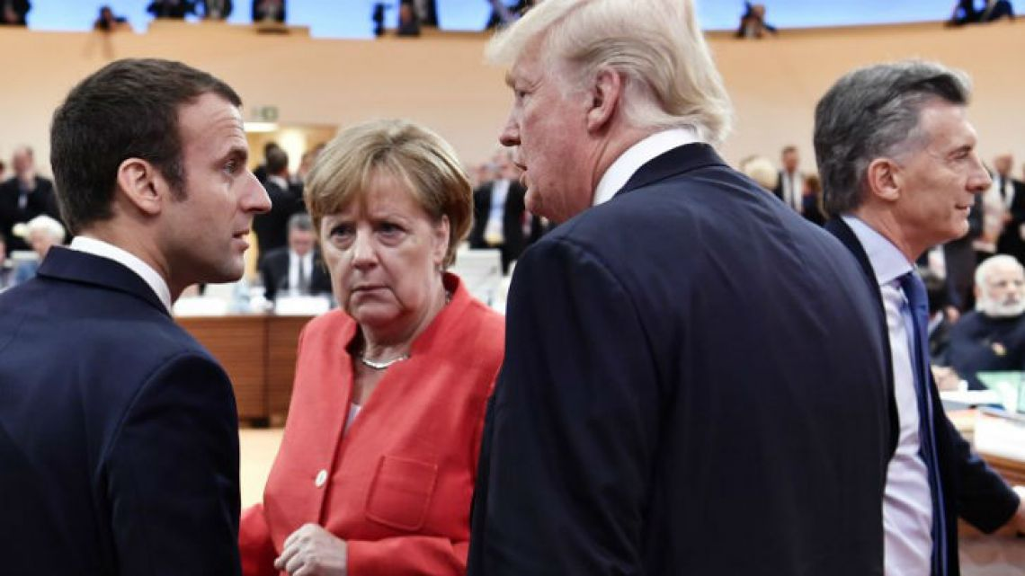 "Macron, Merkel, Trump and Macri. New leaderships far away from the ""Old World""."