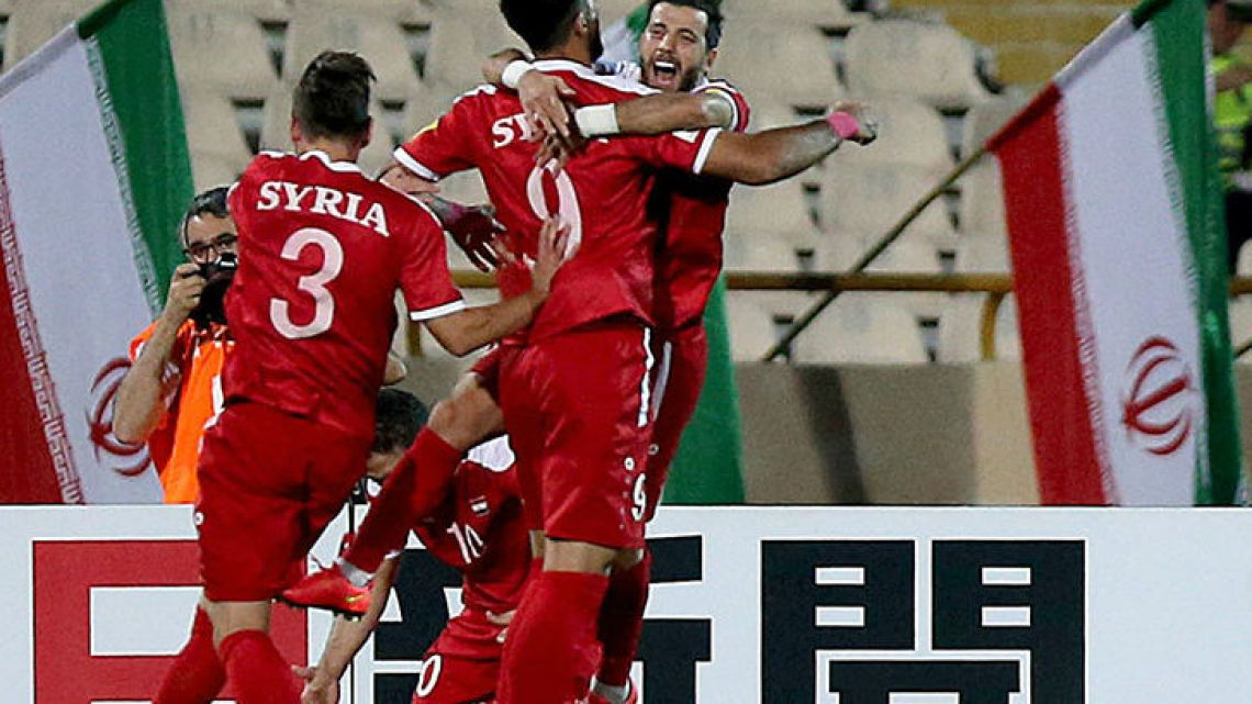 On Tuesday the al-Jalaa stadium in Damascus was opened up to an estimated 3,000 fans who were gripped by Syria's World Cup qualifier against Iran.