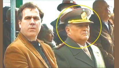 En funciones. El comandante Fabián Méndez, el 28 de julio, en el aniversario de la Gendarmería.