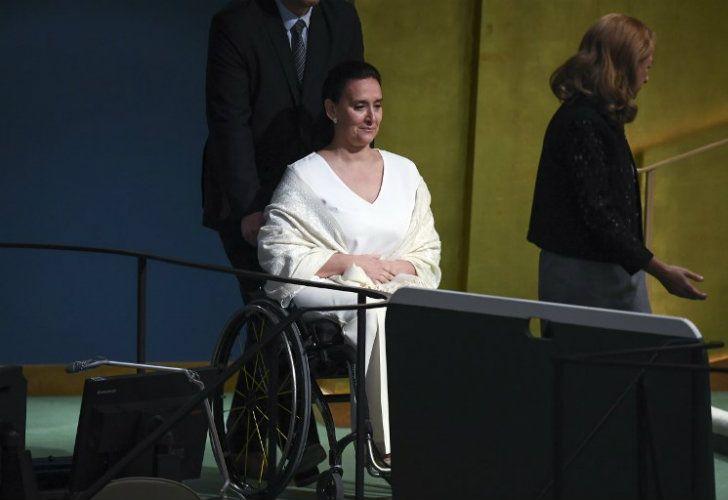 La vicepresidenta Gabriela Michetti en la Asamblea General de la ONU.