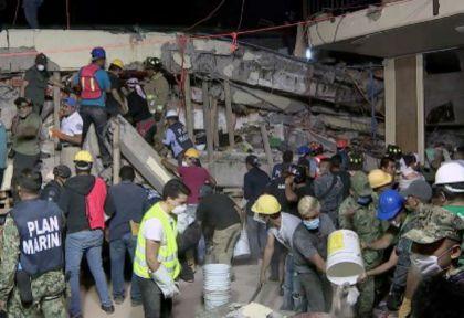 Terremoto en México: 21 niños murieron al derrumbarse una escuela