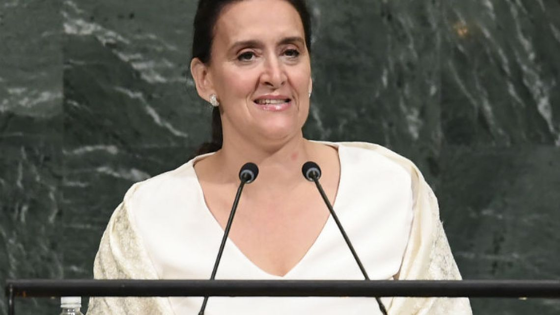 Vice-President Gabriela Michetti addresses the 72nd UN General Assembly on Wednesday in New York.