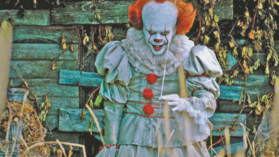 Bill Skarsgard as the bloodthirsty Pennywise in Andy Muschietti's It.