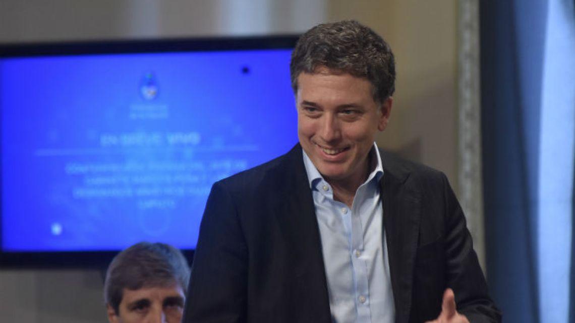 Minister Nicolás Dujovne.
