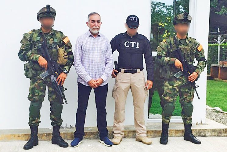 Pez gordo. Byron Piedrahita fue capturado en su casa de Antioquia.