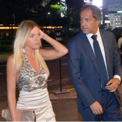 Daniel Scioli y Gisela Berger