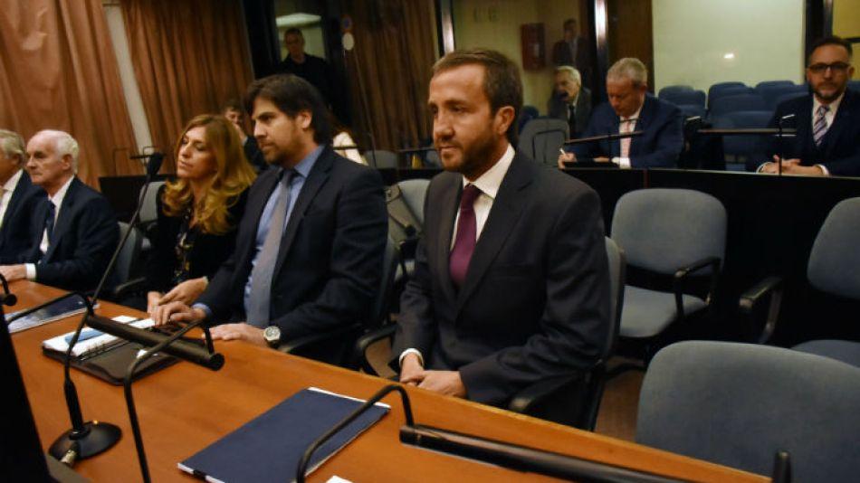 Vandenbroele en el banco de los acusados durante el juicio.