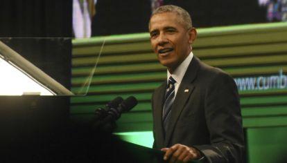 Córdoba: El expresidente de Estados Unidos, Barack Obama, participó del segundo Congreso de Economía Verde que se realizó en el hotel Quorum, de la ciudad.