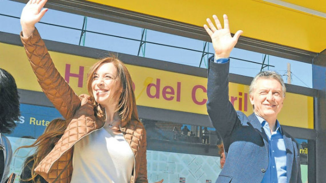 Governor María Eugenia Vidal and President Mauricio Macri.