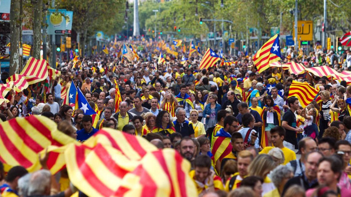 Catalonia. Clashes and political struggles may restrict it's aim to independence.