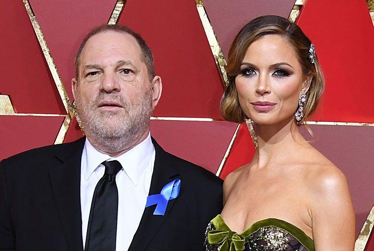 """Weinstein y Georgina Chapman, su esposa y madre de sus dos hijos. Ella es dueña de  Marchessa, que viste a famosas de la """"alfombra roja"""" y ante todo lo sucedio ya pidió el divorcio."""