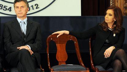 Macri y Fernández de Kirchner en 2012. La misma grieta con la que sus modelos políticos llegan a las urnas.