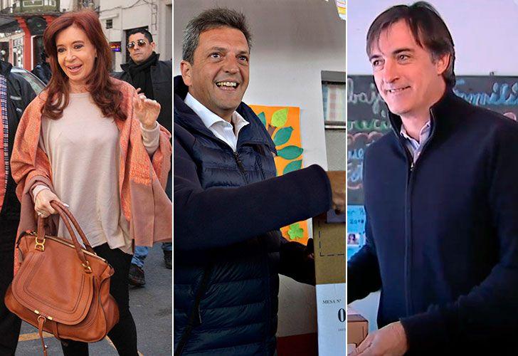 Cristina fernández de Kirchner, Sergio Massa y Esteban Bullrich