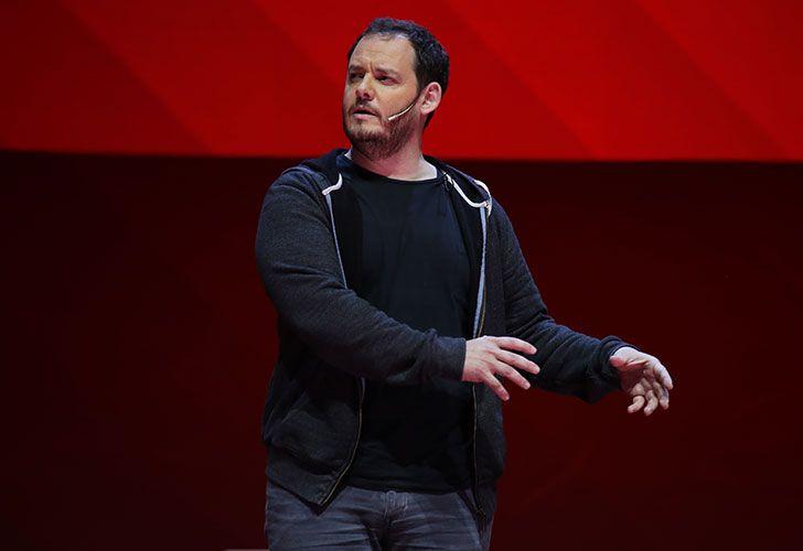 EN TECNOPOLIS. El vicepresidente brindó ayer una charla TED.
