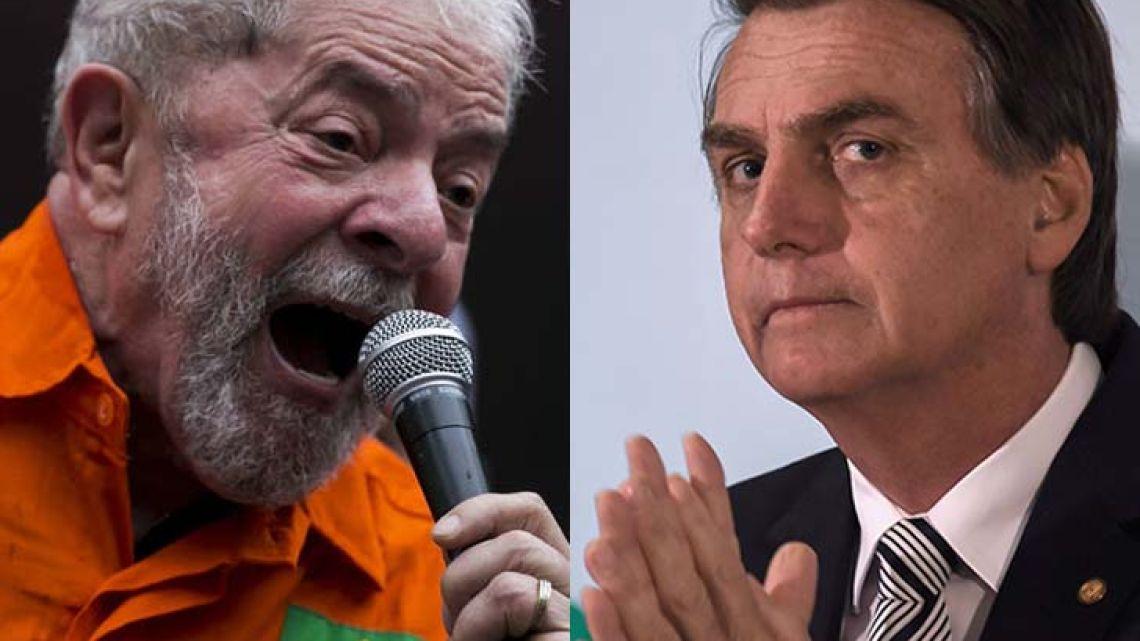 Luiz Inácio Lula da Silva (left) and Jair Bolsonaro.