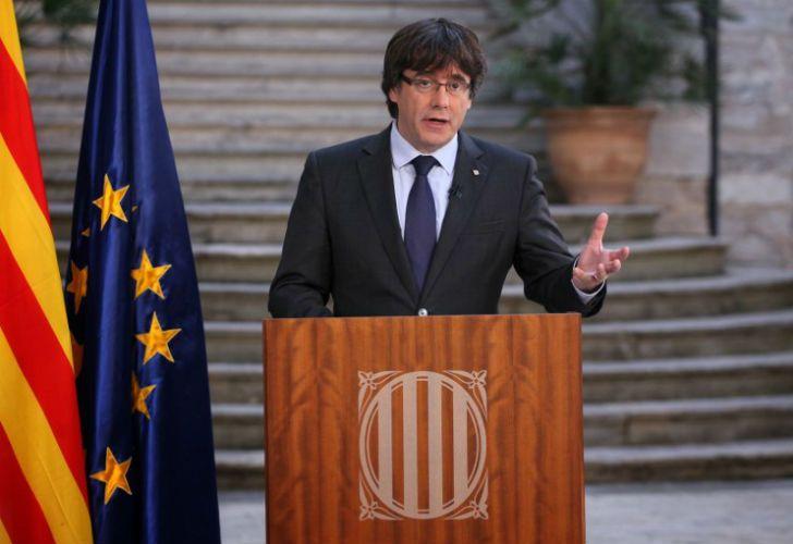 El presidente destituido Carles Puigdemont.