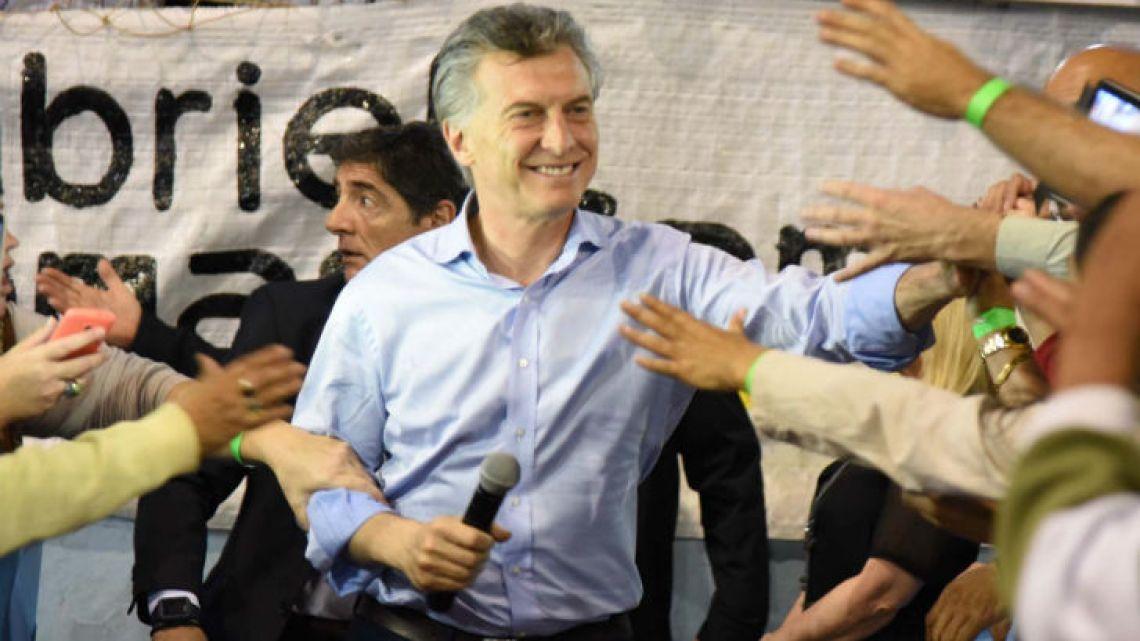 President Mauricio Macri.