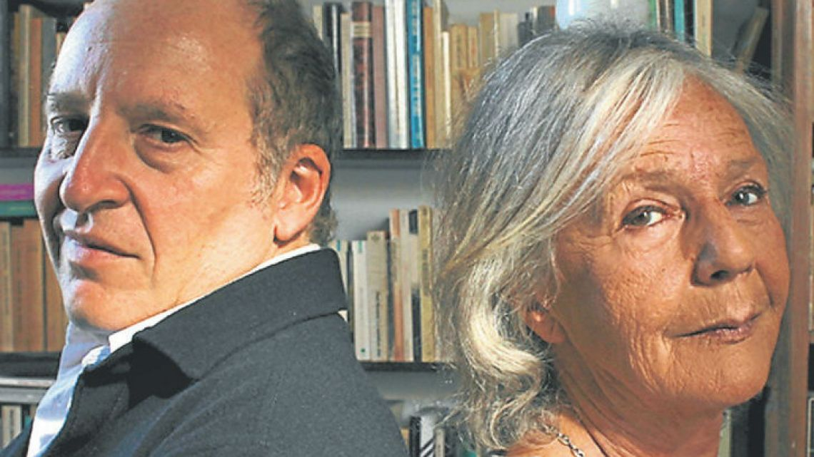 Composer Martín Bauer (left) and author Beatriz Sarlo.