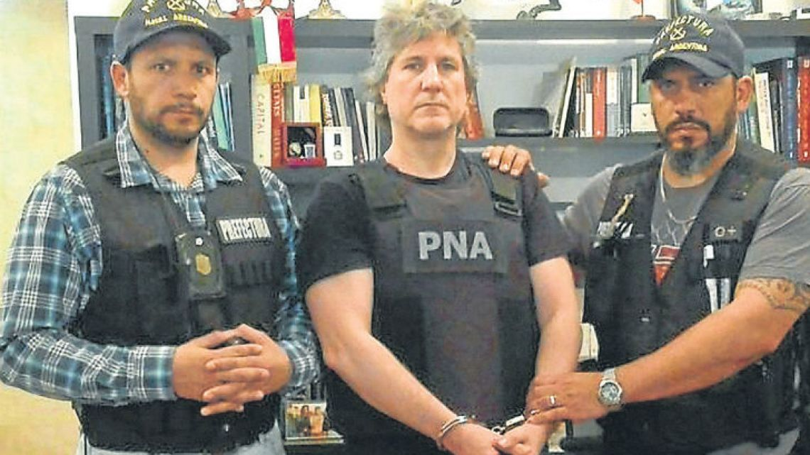 Former vice-president Amado Boudou was arrested yesterday morning in Puerto Madero.