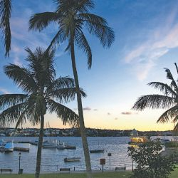 A view of Hamilton Harbour in Bermuda at dusk. In a series of leaks made public by the International Consortium of Investigative Journalists, the Paradise Papers have shed light on offshore tax havens.
