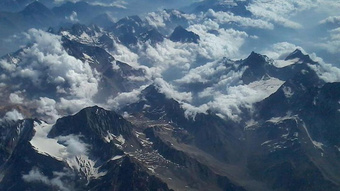 Stock photo of the Andes Mountains range