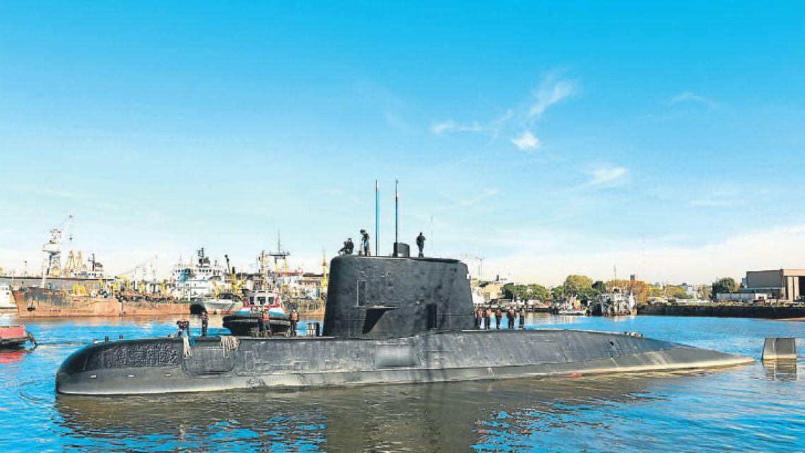 The ARA San Juan submarine has not been heard of since Wednesday.