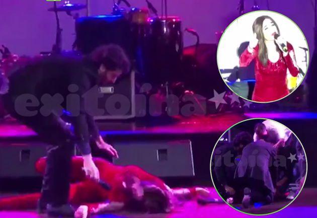 Fátima Florez se desmayó en pleno show