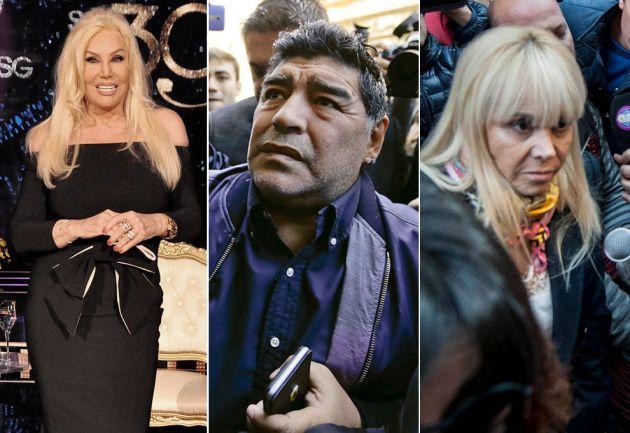 Imputaron a Susana Giménez y Claudia Villafañe por una denuncia de Maradona