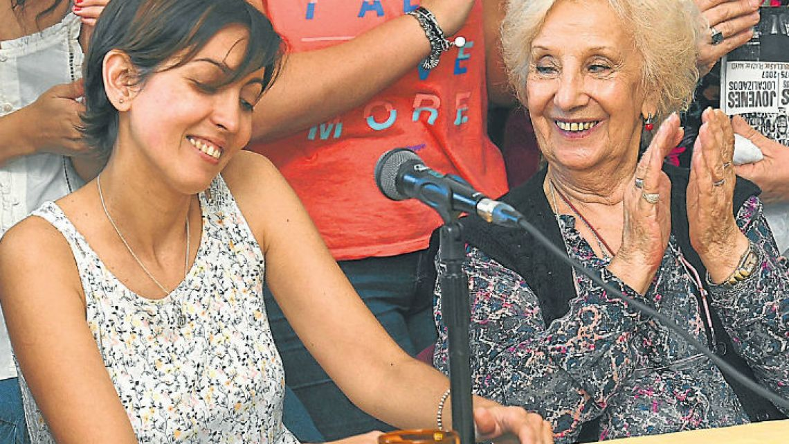 Grandmothers of Plaza de Mayo presented the 126th grandchild reclaimed from forcible adoption