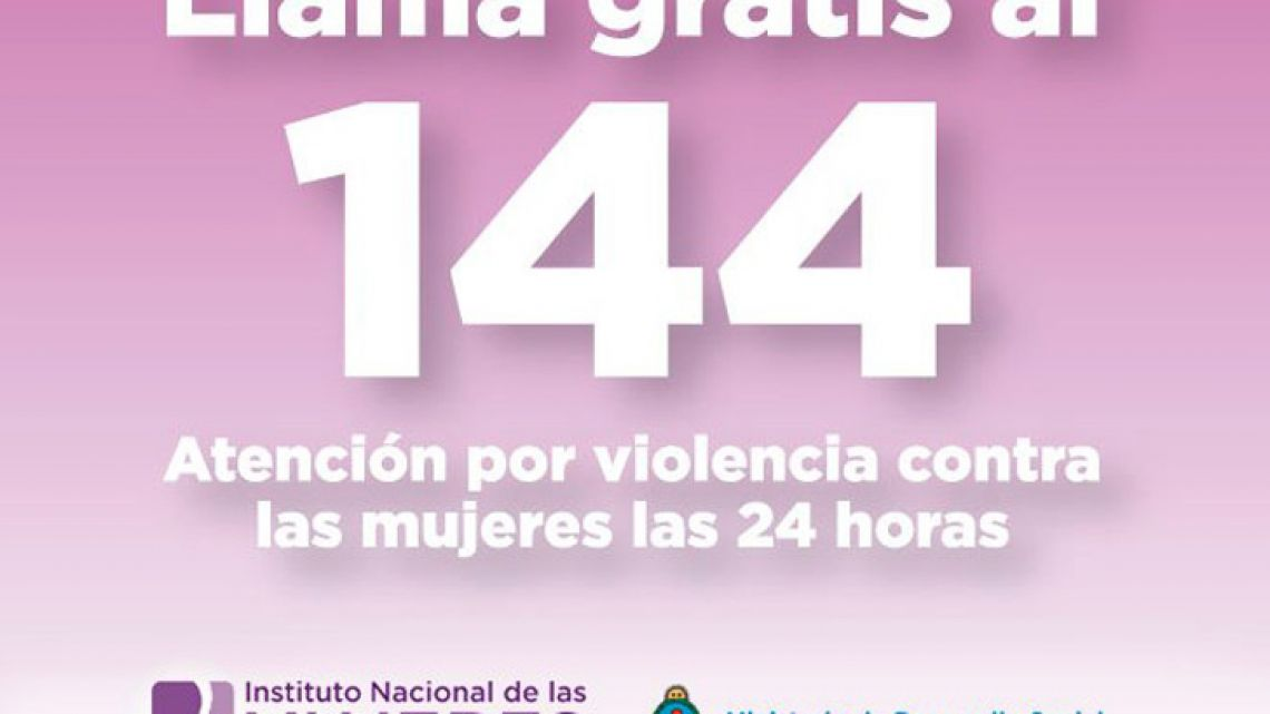Calls to 144 to report violence against women will now be free from mobiles.