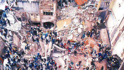 ATENTADO. El ataque terrorista con coche bomba en 1994 dejó 85 muertos y 300 heridos.