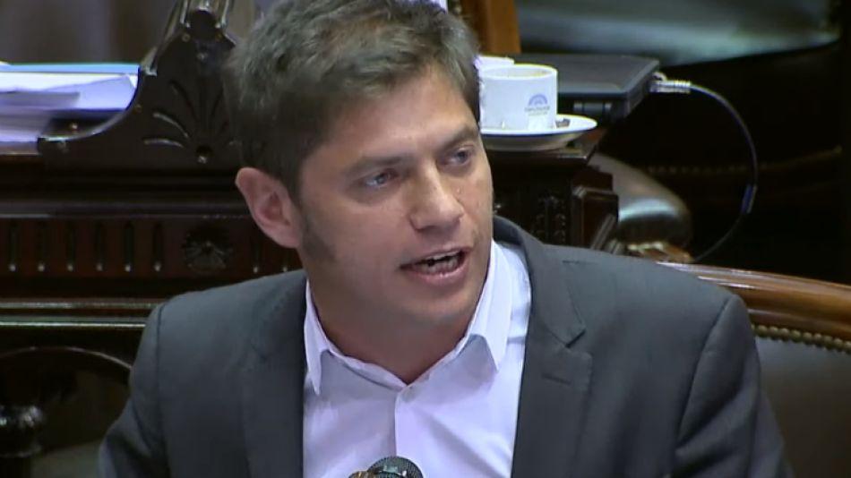 Axel Kicillof, uno de los diputados que se opone a la iniciativa oficial