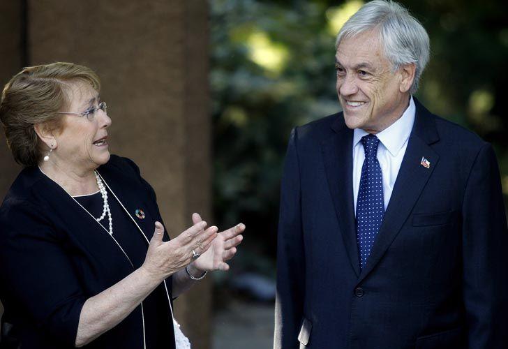Sebastián Piñera desayunó ayer en su casa con a Michelle Bachelet.