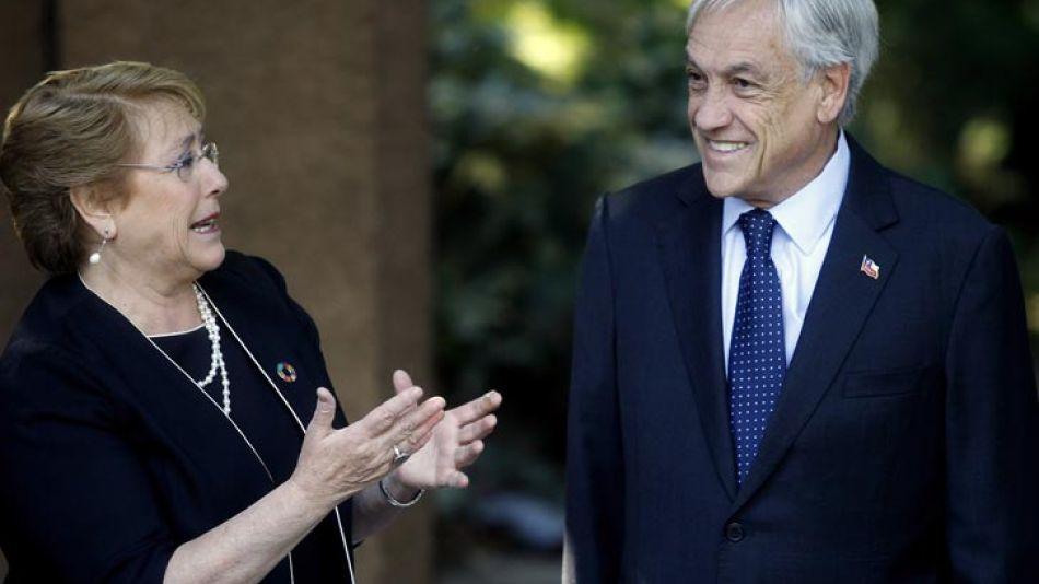 20171219 Sebastián Piñera y M Bachelet