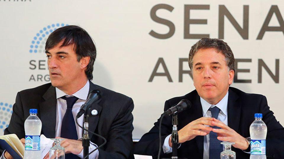 Nicolás Dujovne y Esteban Bullrich