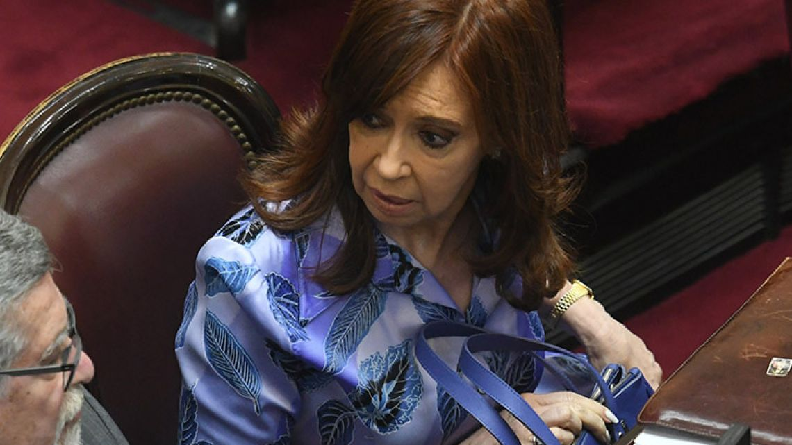 Former president Cristina Fernández de Kirchner returned to the Senate after a 10-year absence on Wednesday 27, 2017.