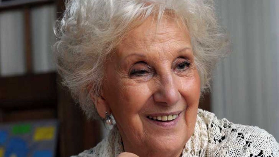 President of the Grandmothers of Plaza de Mayo, Estela Barnes de Carlotto.