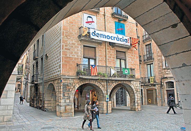 Girona. Bastión del separatismo catalán, fue gobernada por Carles Puigdemont.