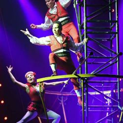 High-Wire Act Los Lopez Perform in CIRCUS 1903 at Paris Las Vegas_Ethan Miller