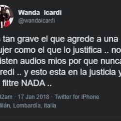 Mensaje borrado Wanda Nara