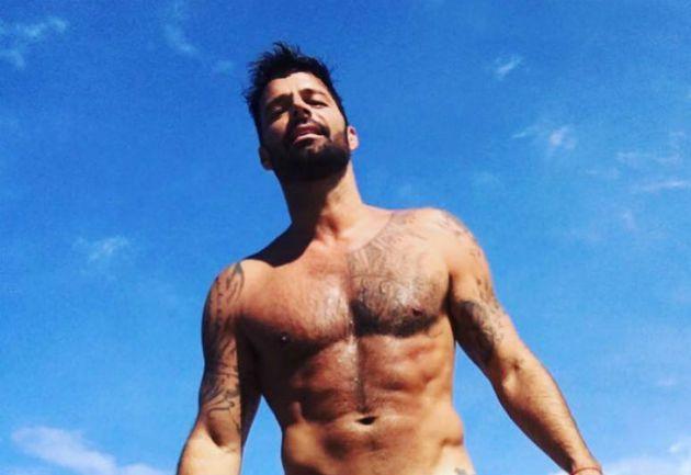 El desnudo de Ricky Martin para promocionar sus shows