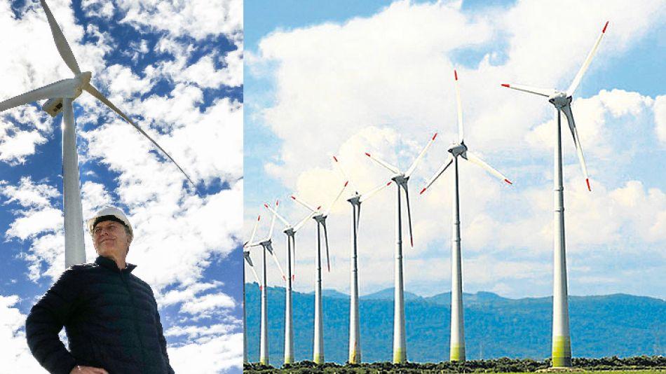 Impulsor. El Presidente apoya las inversiones en energías renovables. El holding familiar, también.