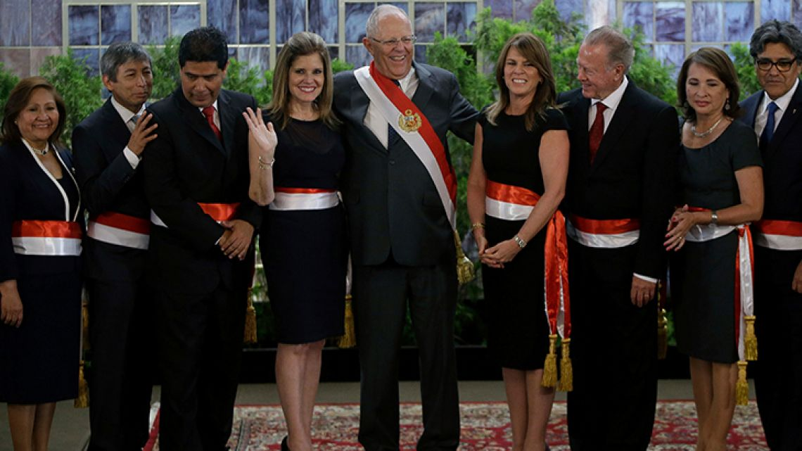 "Pedro Pablo Kuczynski has named a new ""cabinet of reconciliation"" following his close brush with impeachment and controversial pardon of a former president convicted of human rights abuses."