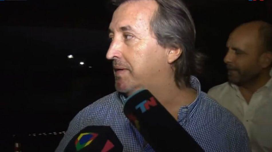 El ex socio de Amado Boudou, José María Núñez Carmona, tras ser liberado.