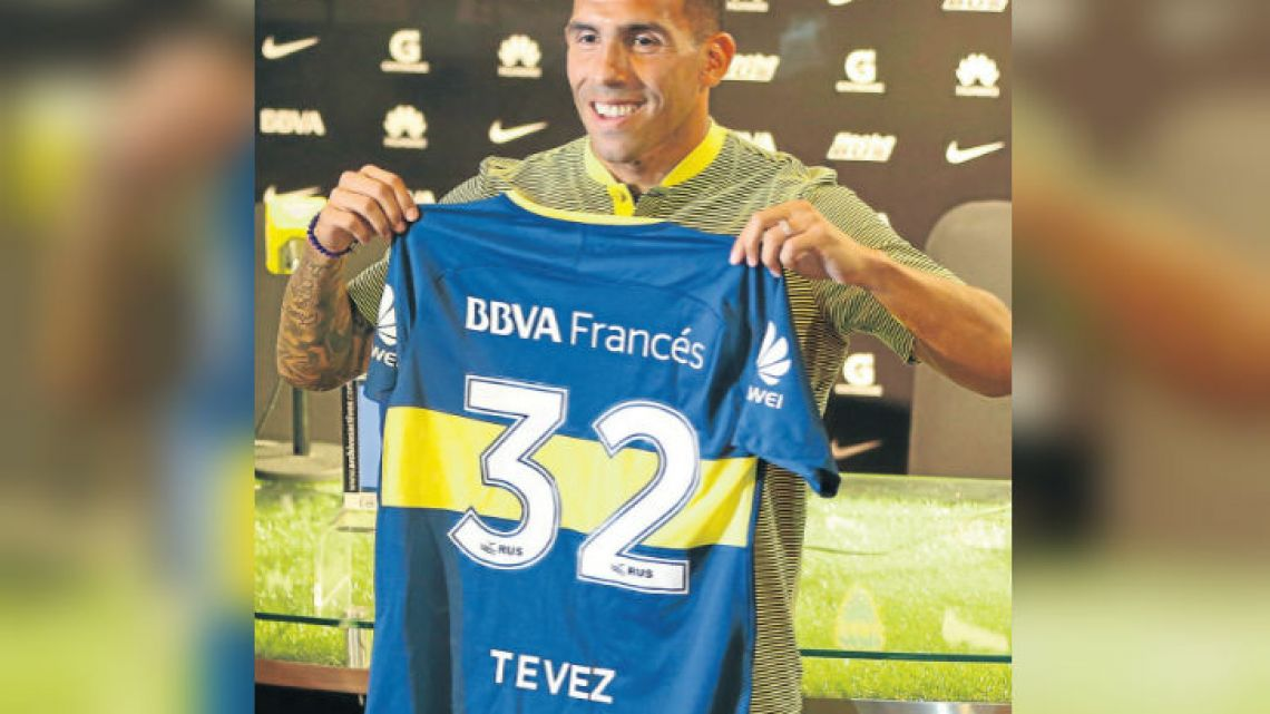 2362b2abe77 Carlos Tevez was unveiled as Boca s new signing this week.