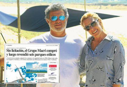 REVELACION. La nota de PERFIL disparó una denuncia judicial. Gianfranco Macri y su esposa, en Punta.