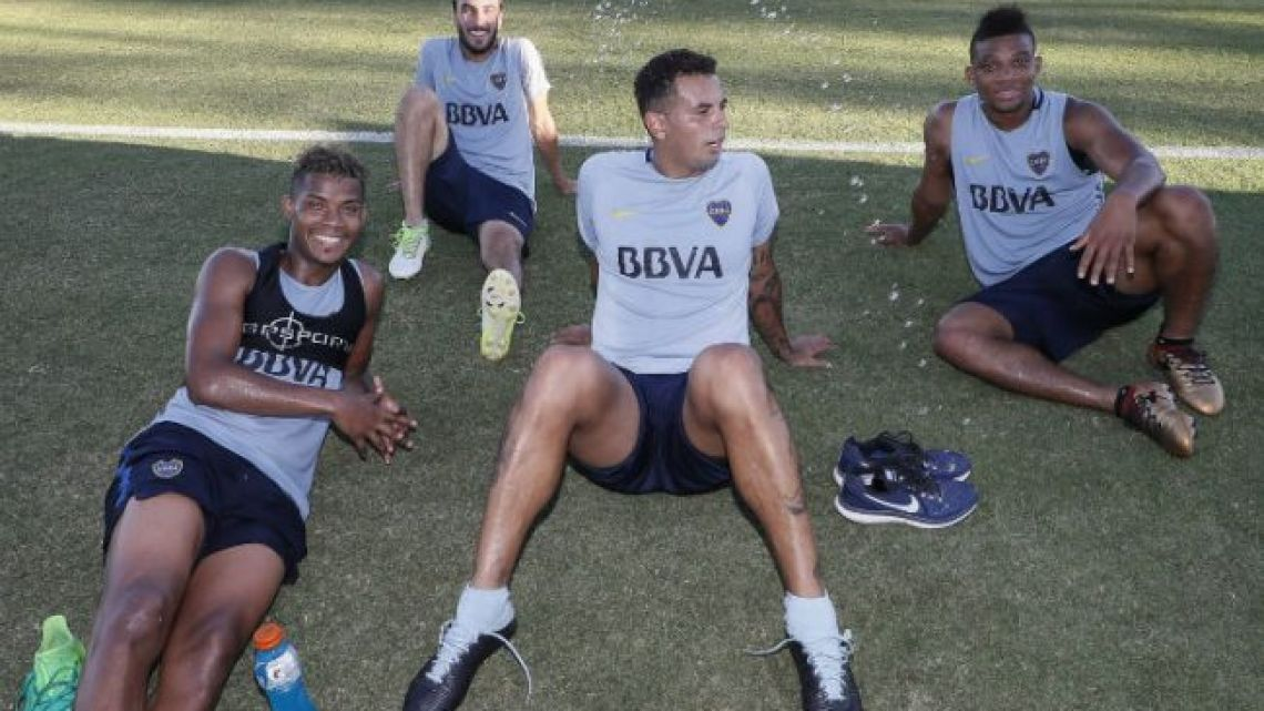 From left to right: Wilmar Barrios, Sebastián Pérez, Edwin Cardona and Frank Fabra.