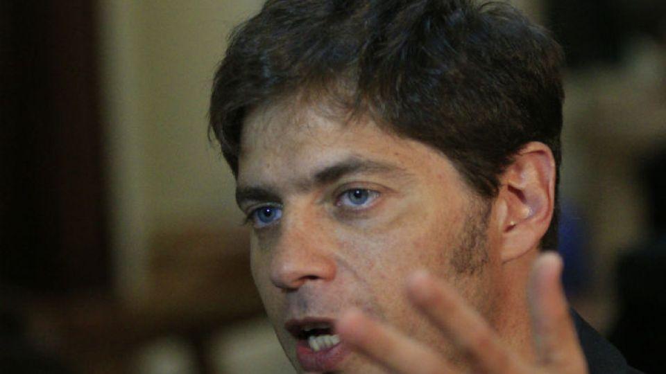 El exministro de Economía, Axel Kicillof.