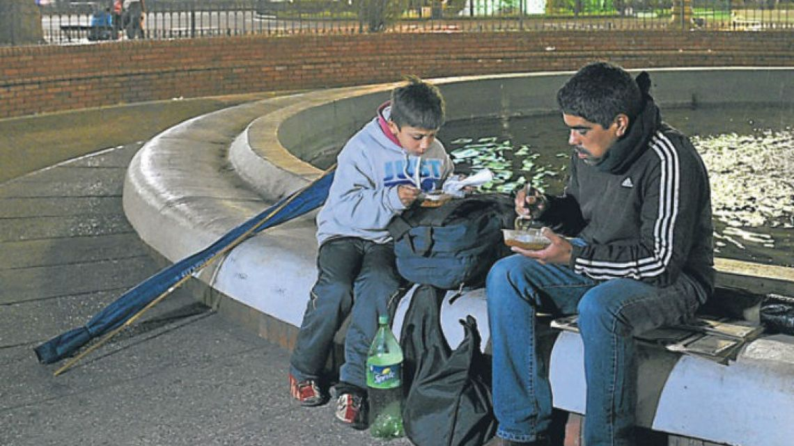 Roughly a third of Argentina's population fall below the poverty line.