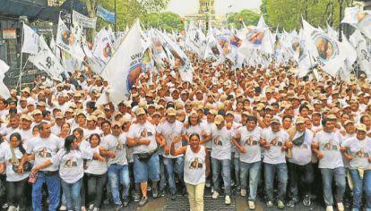 DESPLIEGUE. Una de las tantas machas que encabezó con la Túpac Amaru en Buenos Aires, cuando ponía su fuerza social al servicio del kirchnerismo más duro.